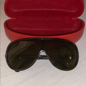 Valentino Shield Sunglasses w/ Swarovski Crystals
